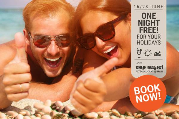 ONE FREE NIGHT JUNE Hotell Cap Negret Altea, Alicante
